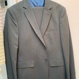 J.Ferrar Gray Pinstripe Suit - JCPenney Brand